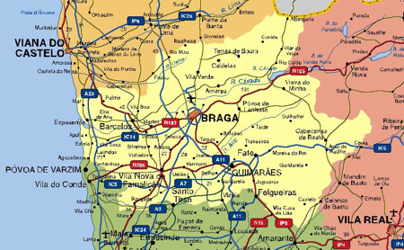 Download Braga Vector Maps As Digital File Purchase Online Our - Portugal map braga