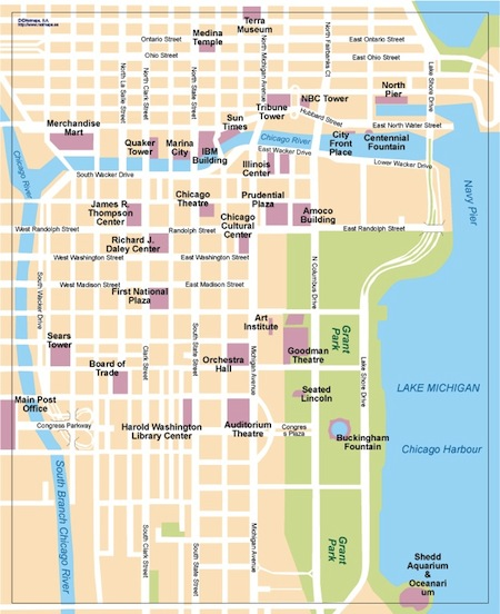 Download Chicago Vector Maps As Digital File  Purchase
