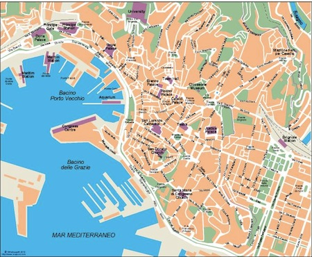 Download Genoa City Vector Maps as digital file Purchase online