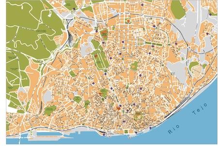 mapa lisboa vector Lisboa   Mapas Mexico mapa lisboa vector