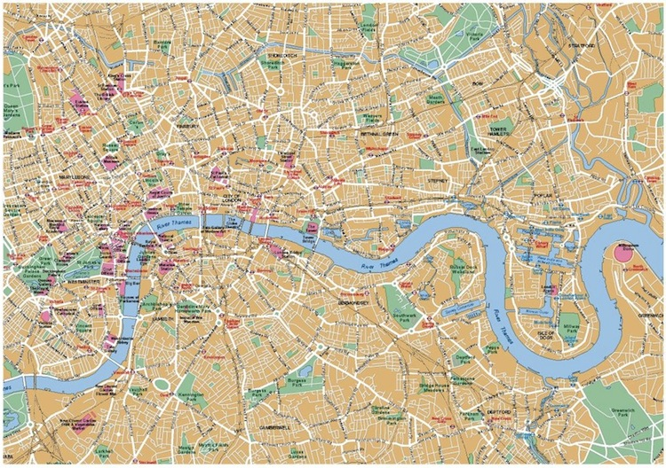 satellite view and map of city of london uk nations online