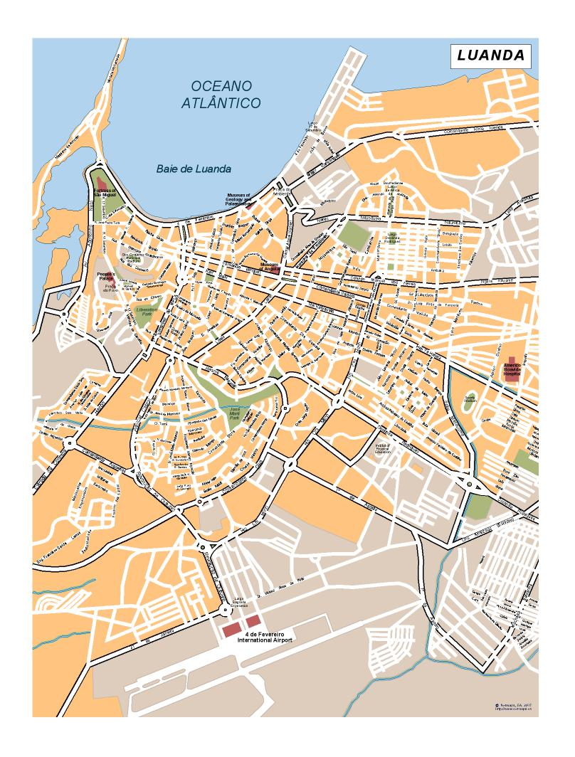 Luanda Map | Download Vector EPS Maps Luanda Map