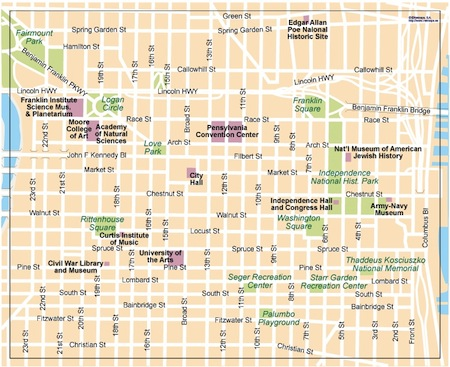 Philadelphia Vector Map 145 00