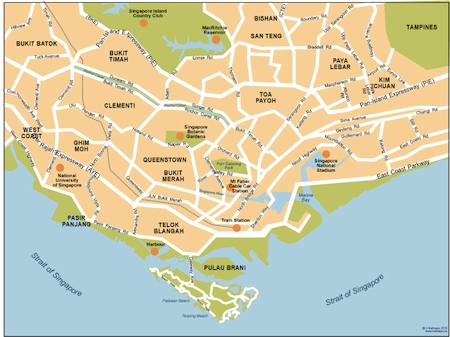 Download Singapore vector maps as digital file Purchase online