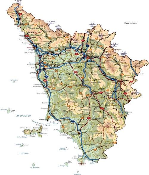 Toscana Italy Vector Maps Illustrator Vector Maps